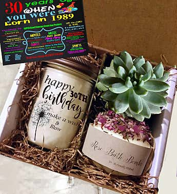 30th Birthday Succulent Spa Gift Box
