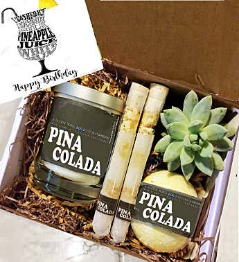 Cocktail Succulent & Spa Gift Box