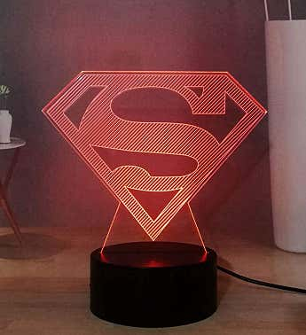 Superhero 3d Illusion Led Decorative Lights