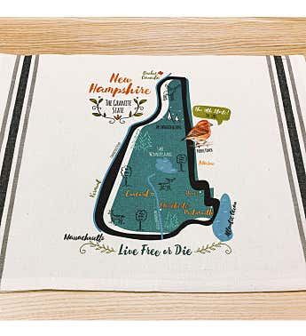 State Map Kitchen Tea Towel