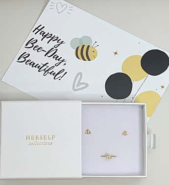 Bee-day Ring + Earring Set
