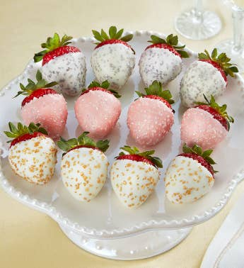 Champagne Chocolate-Covered Strawberries 8211 12 Count