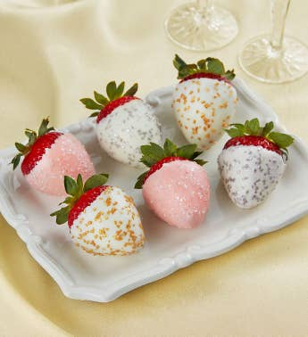 Champagne Chocolate-Covered Strawberries 8211 6 Count