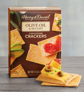 Olive Oil and Sea Salt Hors D39oeuvre Crackers