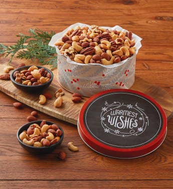 Holiday Mixed Nuts Gift Tin