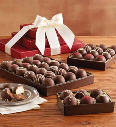 Dark Chocolate Truffle Trio