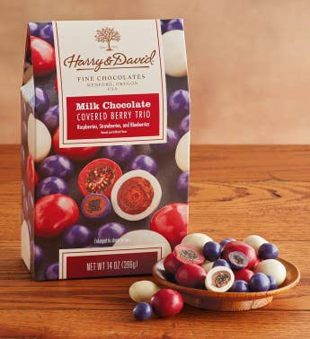 Milk Chocolate-Covered Berry Trio