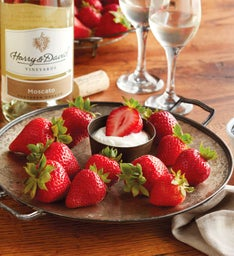 Strawberries, Devonshire Cream, and Harry & David™ Moscato