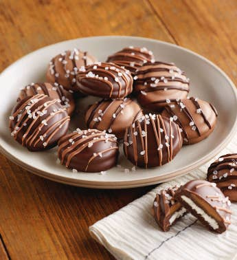 Belgian Chocolate Salted Caramel Cookies