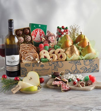 Grand Christmas Gift Box with Wine