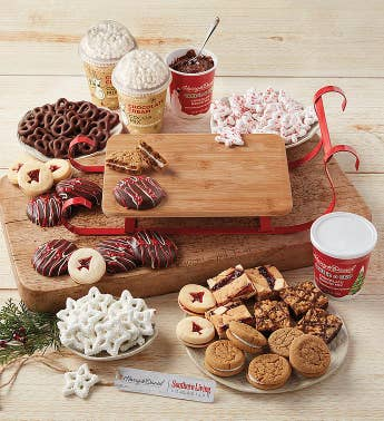 Southern Living Holiday Sled and Cookies Gift