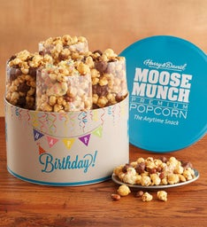 Moose Munch® Premium Popcorn Birthday Tin