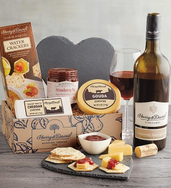 Valentine39s Day Cheese Gift with Wine