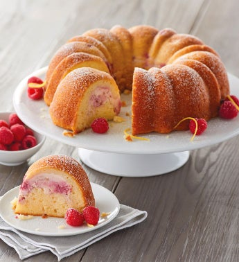 Wolferman's® Lemon Bundt Cake with Raspberry Cheesecake Filling