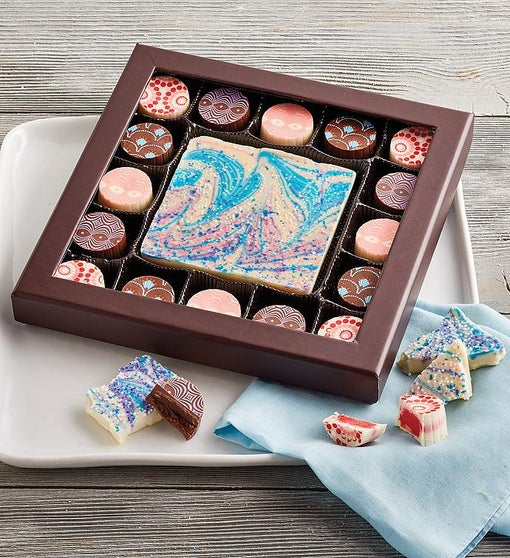 Artisan Truffles and Bark with Unicorn Colors