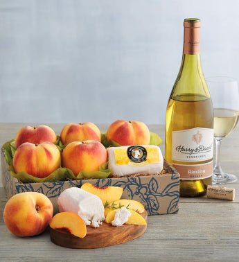 Oregold174 Peaches Honey Goat Cheese and Harry  Davidtrade Riesling