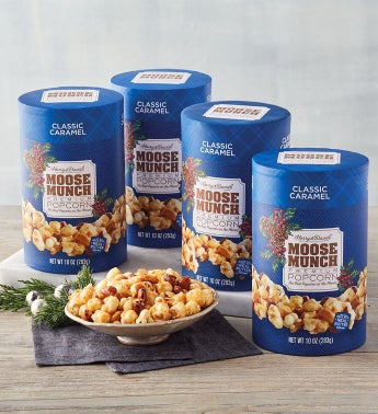 Moose Munch174 Holiday Premium Popcorn - Classic Caramel - 4 Pack