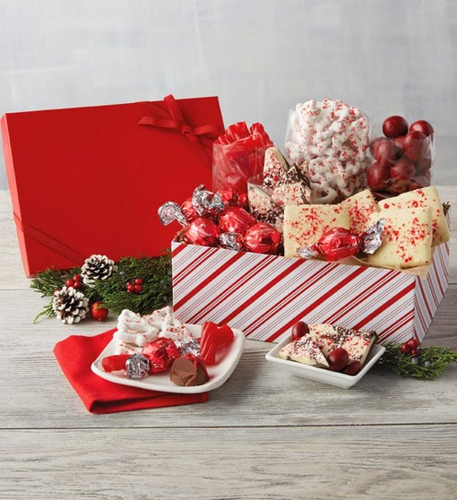 Red and White Holiday Box