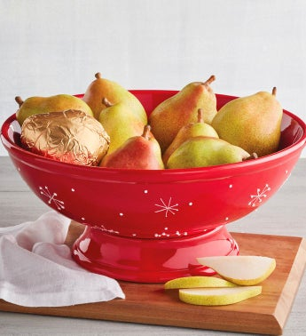 Royal Riviera174 Pears with Holiday Fruit Bowl
