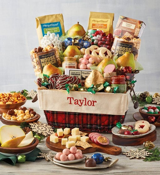 Deluxe Personalized Christmas Gift Basket