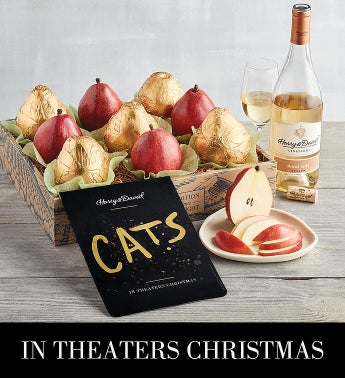 iCATSi Gold Pear Gift with Wine