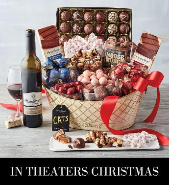 <i>CATS</i> Chocolate Basket with Wine
