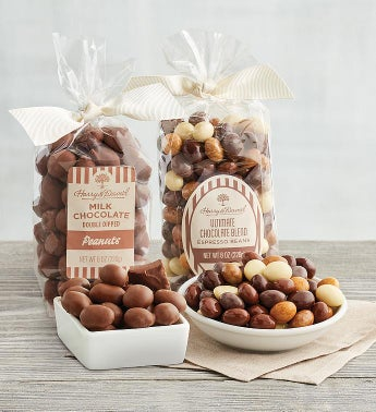 Chocolate-Covered Espresso Beans and Peanuts