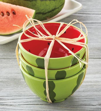 Watermelon Bowls Set of 3
