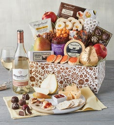 Mother's Day Gift Basket with Wine