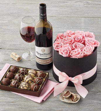 Magnificent Roses and Truffles with Wine