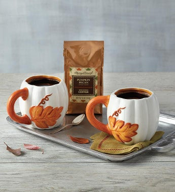Pumpkin Pecan Coffee  Mug Set