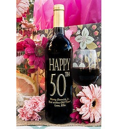 Traditional Birthday Personalized Wine Bottle