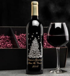 Shimmering Tree Personalized Wine Bottle