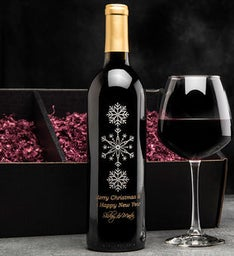 Elegant Wonderland Personalized Wine Bottle