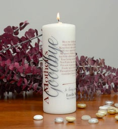 A Mother's Goodbye Memorial Candle