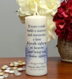 Stairway to Heaven Memorial Candle