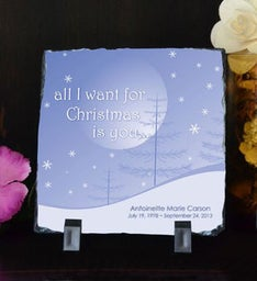 All I Want for Christmas Small Plaque