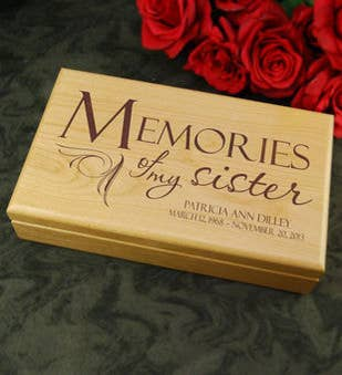 Memories of Sister Keepsake Box
