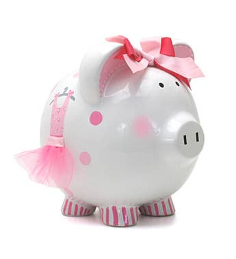 Personalized Hand-Painted Ava's Tutu Piggy Bank