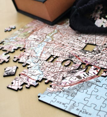 Personalized Home Wooden USGS Map Jigsaw Puzzle