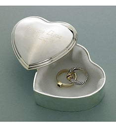 Personalized Heart Trinket Box