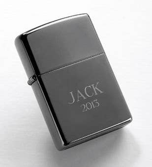 Custom Black Ice Zippo Lighter
