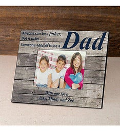 Personalized Navy Barnwood Photo Frame