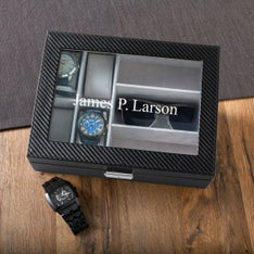 Personalized Mens Watch and Sunglasses Box