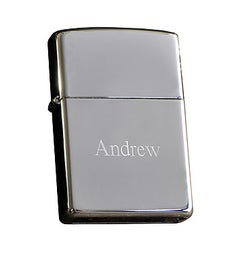 Engraved Zippo High Polish Lighter