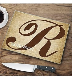 Personalized Initial  Glass Cutting Board