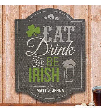 Personalized Irish Welcome Sign