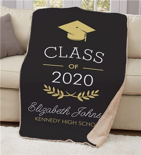 Personalized Graduation Sherpa Throw