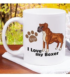 Personalized I Love My Pet Mug