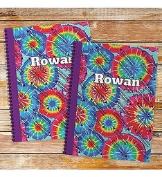 Personalized Tye Dye Notebook - Set of Two